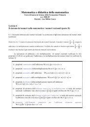 Matematica e didattica della matematica