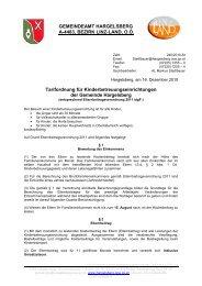 Tarifordnung für Kinderbetreuungseinrichtungen der Gemeinde ...