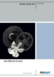 Energy-saving fans with ESM and iQ-motor - ebm-papst UK