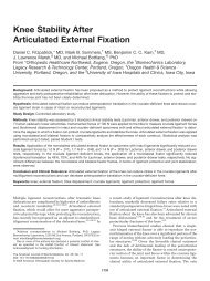 Knee Stability After Articulated External Fixation - The American ...