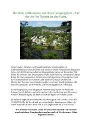 """Herzlich willkommen auf dem Campingplatz """"Auf der Au"""" in Nassau ..."""
