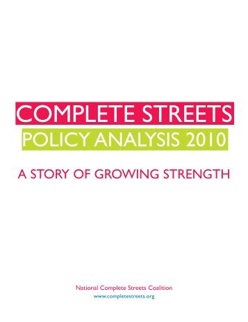 COMPLETE STREETS - Better! Cities & Towns