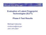 Evaluation of Latent Fingerprint Technologies (ELFT) Phase II Test ...
