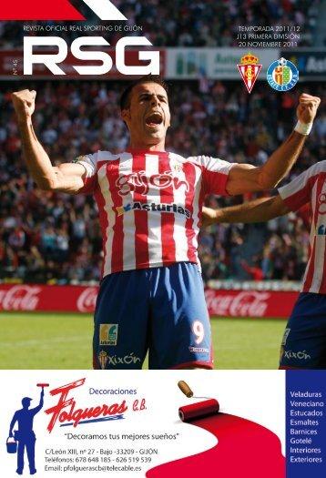 revista oficial real sporting de gijón temporada 2011/12 j13 primera ...