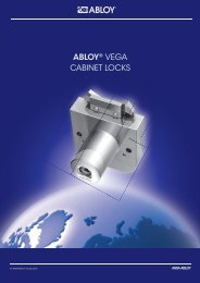 ABLOY® vega cabinet locks