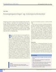 Kroneprepareringer og retensjonselementer - Den norske ...