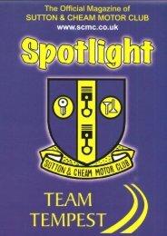 e-Spotlight 09 – Summer 2013 - Sutton and Cheam Motor Club