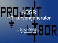 Referat - Projektlabor - TU Berlin