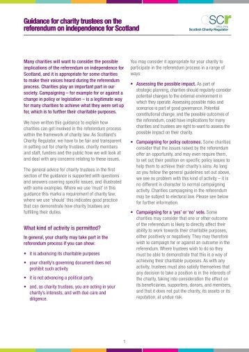 Guidance - Office of the Scottish Charity Regulator