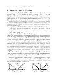 Tutorial 3 - Lehrstuhl für Effiziente Algorithmen