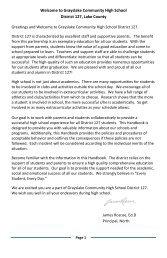 Student Handbook - Grayslake North High School - District 127