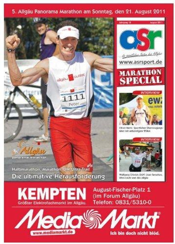 ASR Sport Marathon 2011 Ausgabe - Allgäu Sport Report
