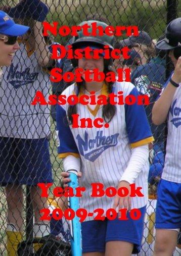 Northern District Softball Association Inc. Year Book 2009-2010