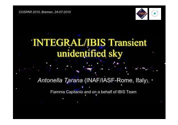 INTEGRAL/IBIS Transient unidentified sky - INAF-IASF-Roma