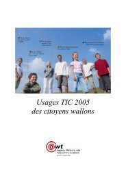 Usages TIC 2005 des citoyens wallons - Awt