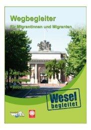 Wegweiser für Migrantinnen und Migranten (Deutsche ... - Wesel