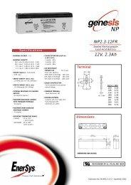 NP2.3-12FR 12V, 2.3Ah - Accu-Profi