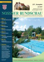 217. Ausgabe - Nossner Rundschau