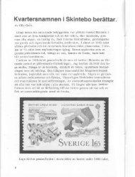 Kvartersnamnen i Skintebo berättar. 1982-6