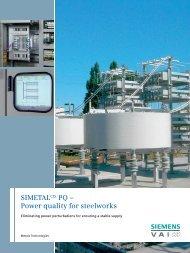 SIMETALCIS PQ – Power quality for steelworks