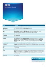 SEPA Glossary of Terms PDF - Business Banking