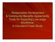 A Cleveland Case Study - The Mobility Agenda