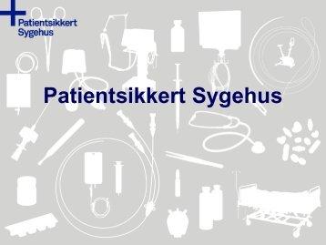 Præsentation af Maria Staun og Vibeke Rischel - Sikker Patient
