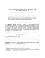 LYAPUNOV EXPONENTS AND RATES OF MIXING FOR ONE ...