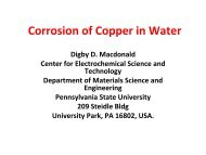 Corrosion of Copper in Water