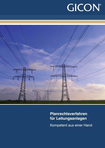 Planrechtsverfahren für Leitungsanlagen - GICON