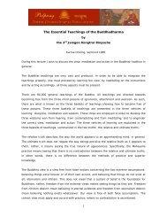 1 The Essential Teachings of the Buddhadharma