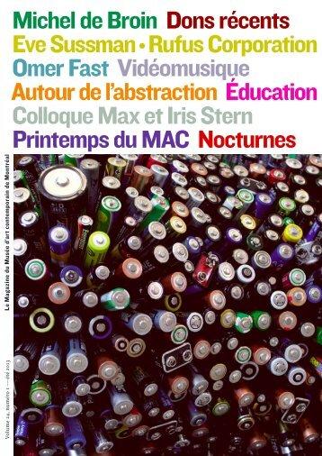 Magazine du Musée — Volume 24, numéro 1 — été 2013 ...