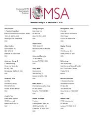 Member Listing as of September 1, 2010 - International Oil Mill ...