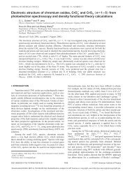 Electronic structure of chromium oxides, CrOn - Washington State ...