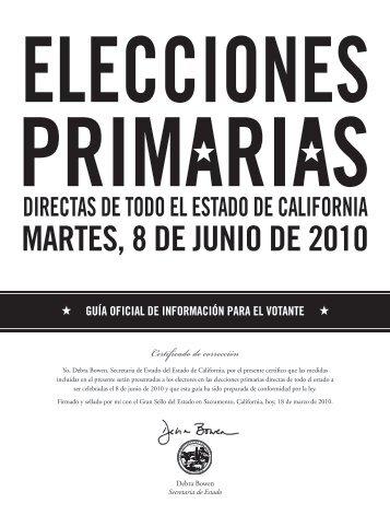 MARTES, 8 DE JUNIO DE 2010 - Riverside County Registrar of Voters