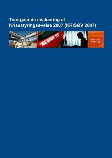 KRISØV 2007 - Beredskabsstyrelsen