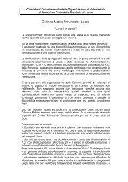 """Colonna Mobile Provinciale - Lecco """"Lavori in corso"""" - Provincia di ..."""