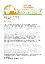 Maggio 2009 - Slow Food