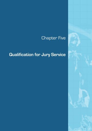 (September 2009) - Chapter 5 Qualification for Jury Service