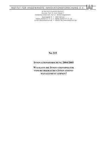 Jahresbericht 2004/2005 - Institut für angewandte ...