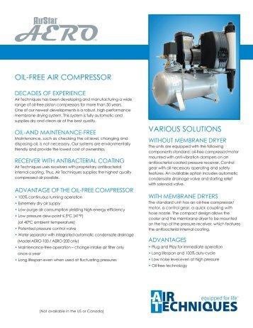 AirStar AERO Oil-Free Compressor - Air Techniques, Inc.