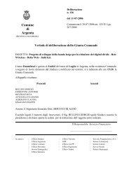 delibera n. 126 del Luglio 2006 - Comune di Argenta