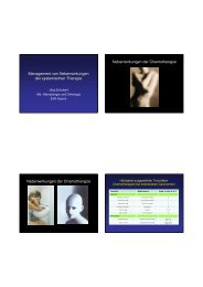 Prophylaxe/Behandlung Nebenwirkungen systemische Therapie