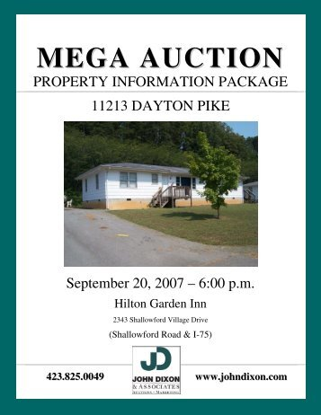 MEGA AUCTION - John Dixon & Associates