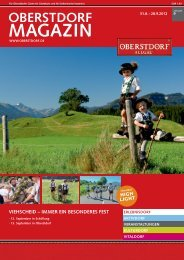 Touristinformation Oberstdorf, Tel. (08322) 700-290 Angelika Milster
