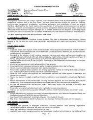 Supervising Deputy Probation Officer - Yuba County