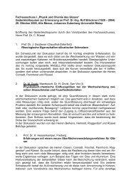 """Fachausschuss I """"Physik und Chemie des Glases - HVG-DGG"""