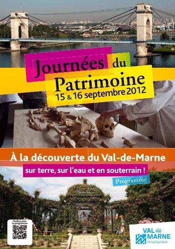 À la découverte du Val-de-Marne - Conseil général du Val-de-Marne