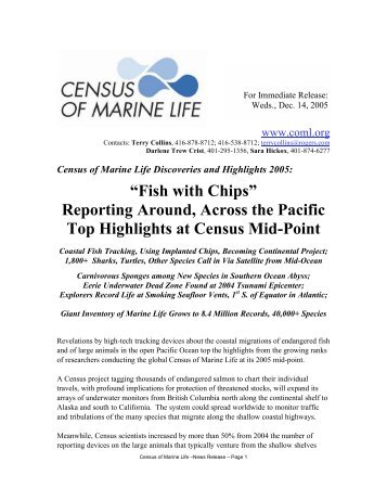 Highlights 2005 - Census of Marine Life