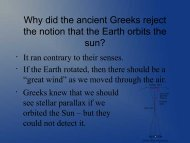 Ancient Astronomy - Ann Arbor Earth Science